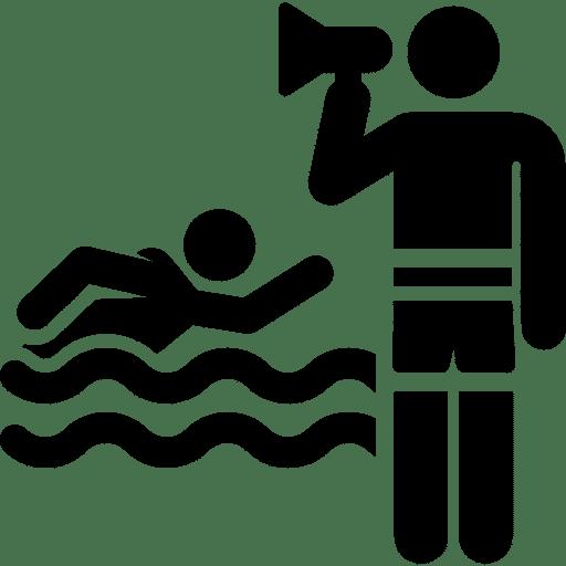 Icon eines Schwimmtrainers und seines Zöglings