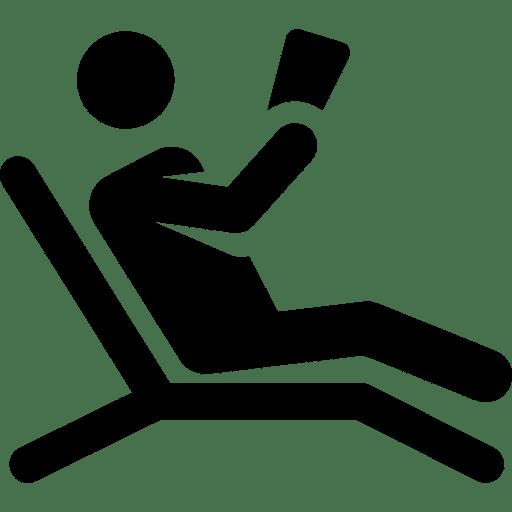 Icon eines Touristen im Liegestuhl
