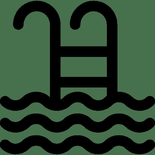 Icon einer Leiter die in den Swimmingpool führt