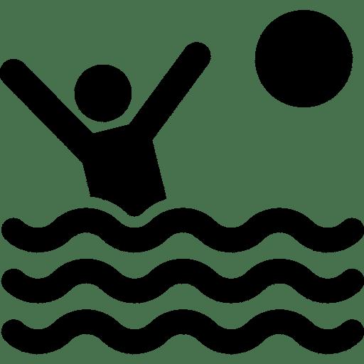 Icon eines Wasserballspielers